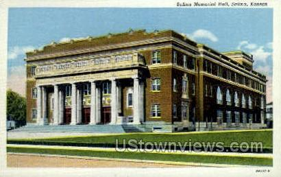 Salina Memorial Hall - Kansas KS Postcard