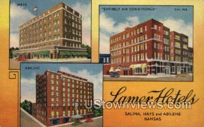 Lamer Hotel - Salina, Kansas KS Postcard