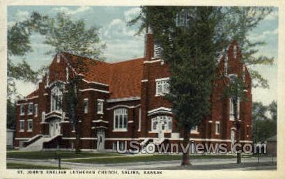St John'sLutheran Church - Salina, Kansas KS Postcard