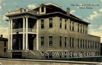 Elk's Home - Salina, Kansas KS Postcard