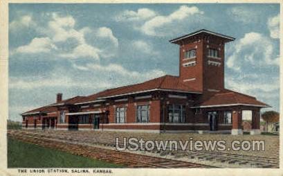Union Station - Salina, Kansas KS Postcard