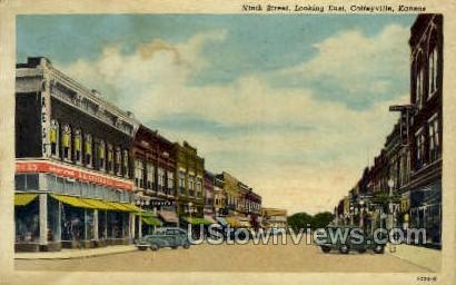Ninth Street - Coffeyville, Kansas KS Postcard