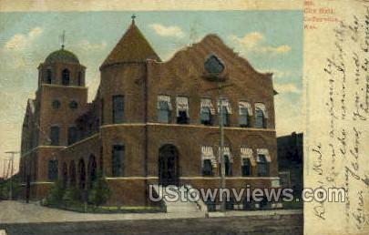 City Hall - Coffeyville, Kansas KS Postcard