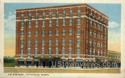 New Hotel - Coffeyville, Kansas KS Postcard