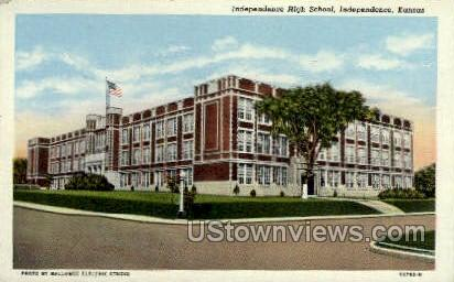 Independence High School - Kansas KS Postcard