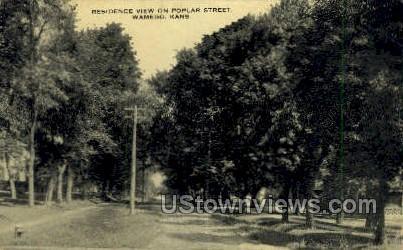 Poplar Street - Wamego, Kansas KS Postcard