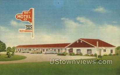 50-S Motel - Emporia, Kansas KS Postcard