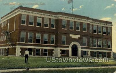 Longfellow School - Coffeyville, Kansas KS Postcard