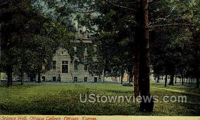 Ottawa College - Kansas KS Postcard