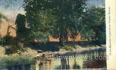 Maraisdes Cygnes River - Ottawa, Kansas KS Postcard