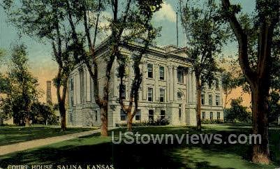 Court House - Salina, Kansas KS Postcard