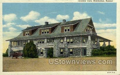 Country Club - Manhattan, Kansas KS Postcard
