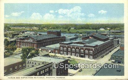 Forum & Exposition Building - Wichita, Kansas KS Postcard
