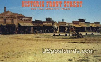 Historic Front Street, Boot Hill - Dodge City, Kansas KS Postcard