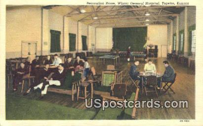 Recreation Room, Winter General Hospital - Topeka, Kansas KS Postcard