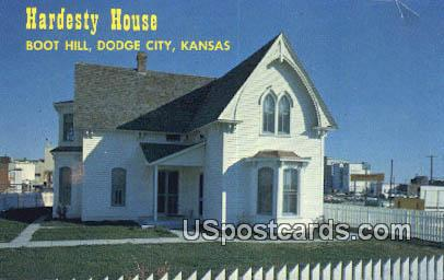 Hardesty House, Boot Hill - Dodge City, Kansas KS Postcard