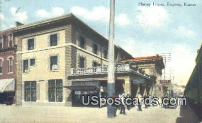 Harvey House - Emporia, Kansas KS Postcard