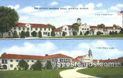Kansas Masonic Home - Wichita Postcard