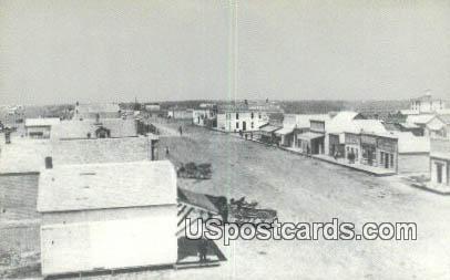 1890 Street Scene - Goodland, Kansas KS Postcard