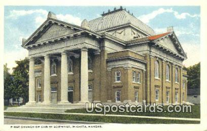First Church of Christ Scientist - Wichita, Kansas KS Postcard