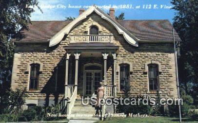 Home of Stone - Dodge City, Kansas KS Postcard