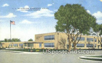 AJ Mc Candless Elementary School - Hutchinson, Kansas KS Postcard