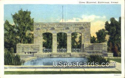 Carey Memorial - Hutchinson, Kansas KS Postcard