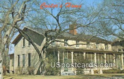 Custer's Home - Fort Riley, Kansas KS Postcard