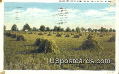 Wheat Stacks - Salina, Kansas KS Postcard