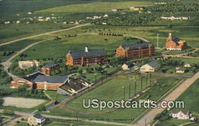 University of Wichita - Kansas KS Postcard