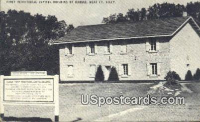 First Territorial Capitol Building - Fort Riley, Kansas KS Postcard