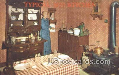Typical 1870 Kitchen, Boot Hill - Dodge City, Kansas KS Postcard