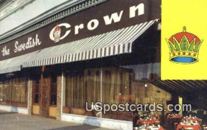 Swedish Crown - Lindsborg, Kansas KS Postcard