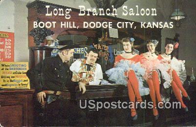 Long Branch Saloon - Dodge City, Kansas KS Postcard