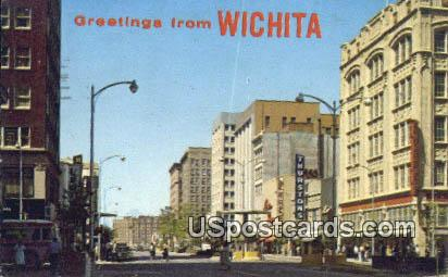 Downtown - Wichita, Kansas KS Postcard
