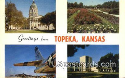 Topeka, KS Postcard     ;     Topeka, Kansas