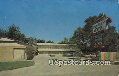 Royal Manor Motel - Ottawa, Kansas KS Postcard