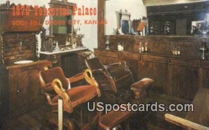 1870 Tonsorial Palace, Boot Hill - Dodge City, Kansas KS Postcard