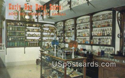 Early Day Drug Store, Boot Hill - Dodge City, Kansas KS Postcard