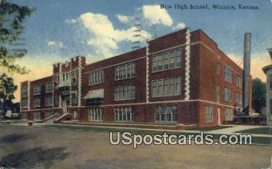 New High School - Wichita, Kansas KS Postcard