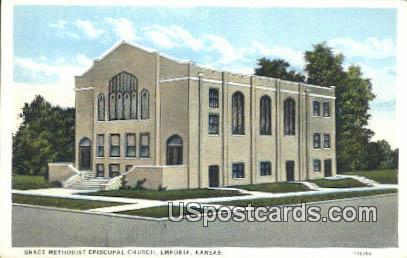 Grace Methodist Episcopal Church - Emporia, Kansas KS Postcard