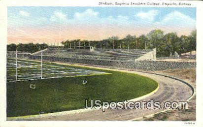 Stadium, Emporia Teachers College - Kansas KS Postcard