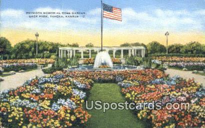 Reinisch Memorial Rose Garden, Gage Park - Topeka, Kansas KS Postcard