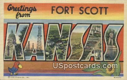 Fort Scott, Kansas Postcard     ;     Fort Scott, KS