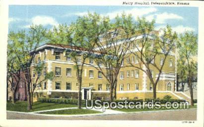 Mercy Hospital - Independence, Kansas KS Postcard