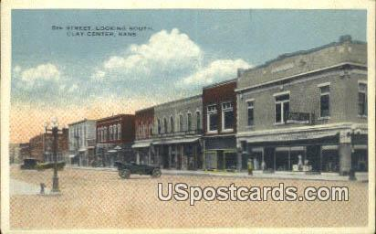 5th Street - Clay Center, Kansas KS Postcard
