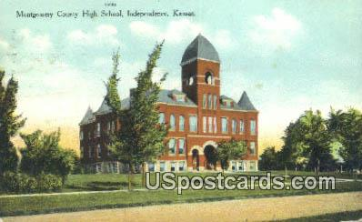 Montgomery County High School - Independence, Kansas KS Postcard