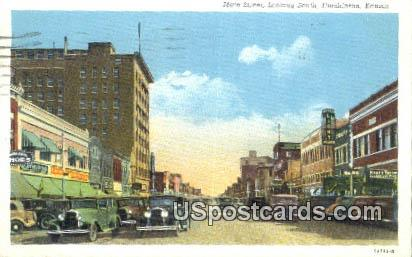 Main Street - Hutchinson, Kansas KS Postcard
