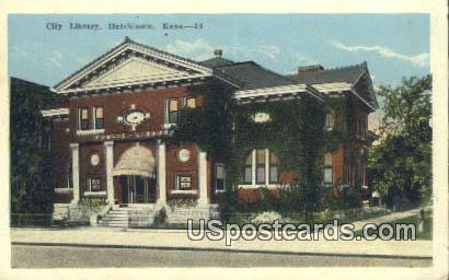 City Library - Hutchinson, Kansas KS Postcard