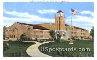 High School, North - Wichita, Kansas KS Postcard
